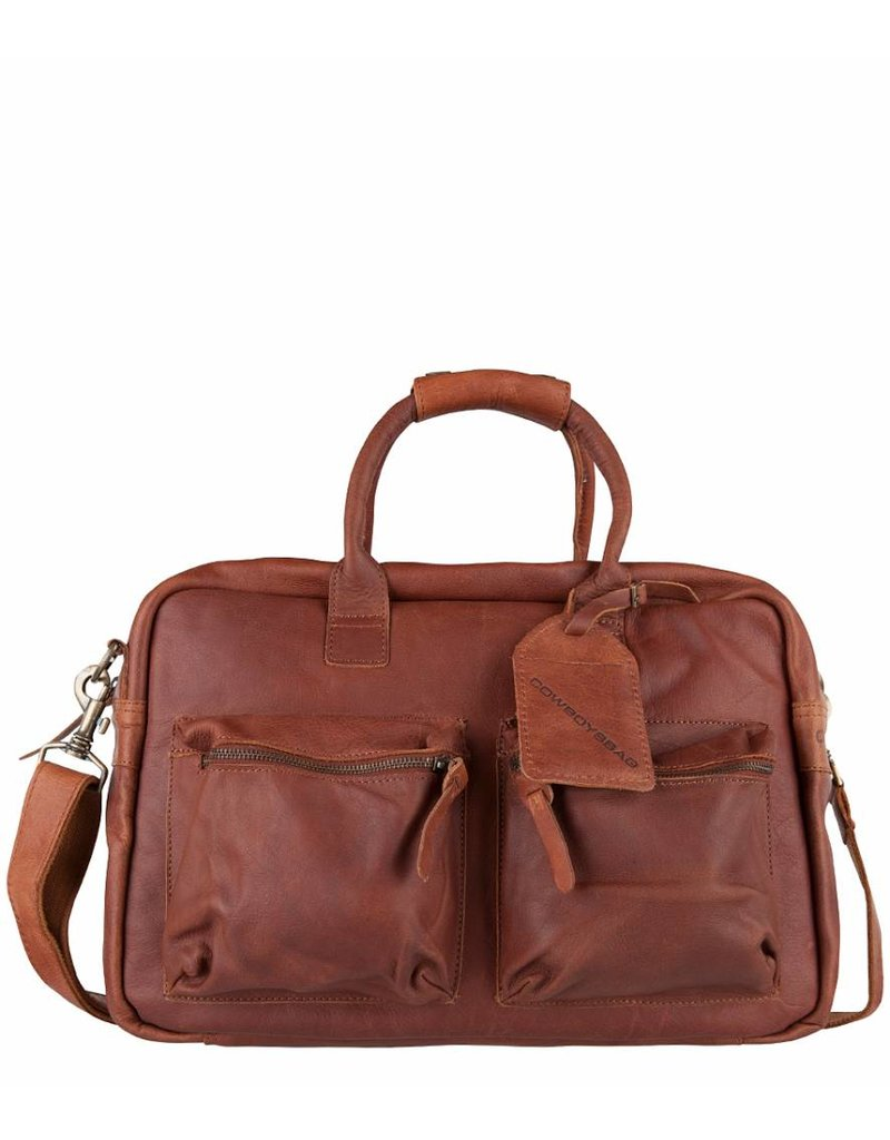Cowboysbag Cowboysbag - The College Bag - Cognac - 15.6 inch laptoptas