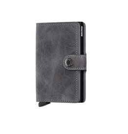 Secrid Secrid Mini Wallet Vintage Grey-Black pasjeshouder