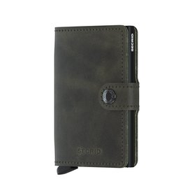 Secrid Secrid Mini Wallet Vintage Olive-Black pasjeshouder
