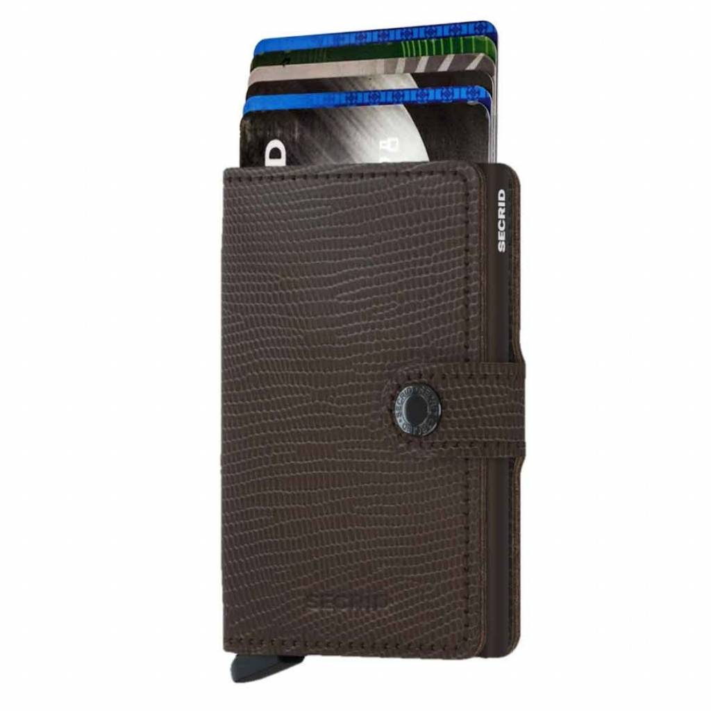 Secrid Mini-protecteur Carte Porte-monnaie Rango Cuir Marron Porte-carte De Traction f8c7oo