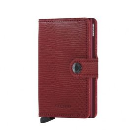 Secrid Secrid Mini Wallet Red Bordeaux pasjeshouder
