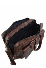 "Leonhard Heyden Leonhard Heyden Roma - Tote Bag 5370 - 15.4"" aktetas - Bruin"