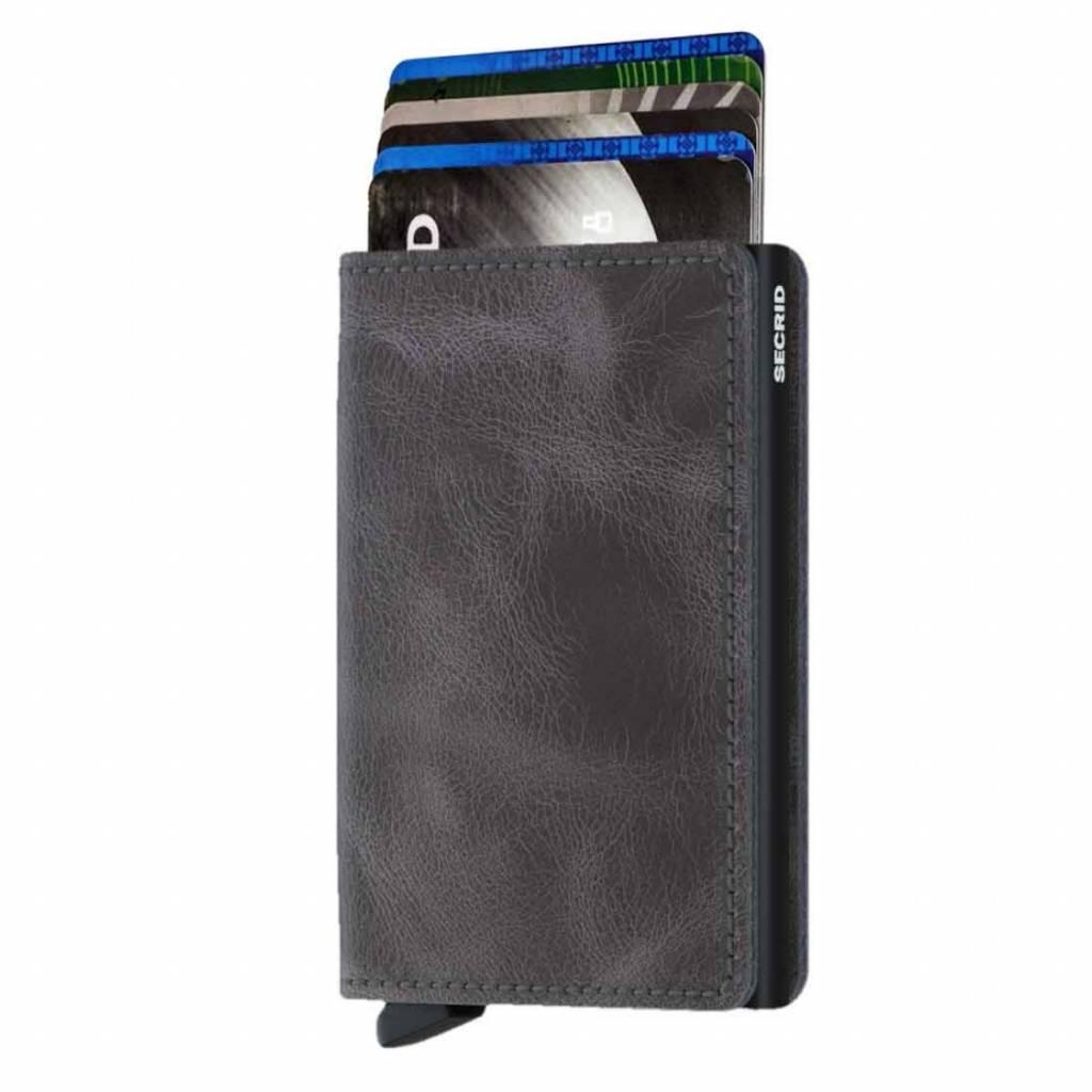 Secrid Cuir Vintage Noir Intelligent Portefeuille Gris Porte-monnaie Porte-carte De Traction m7Qlc8QCn