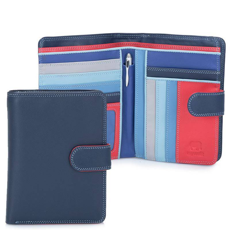 Mywalit Mywalit Large Snap Wallet met Zip Purse - Royal - portemonnee