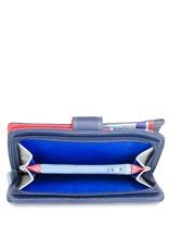 Mywalit Mywalit Large Snap Wallet met Zip Purse - Royal - portemonnee