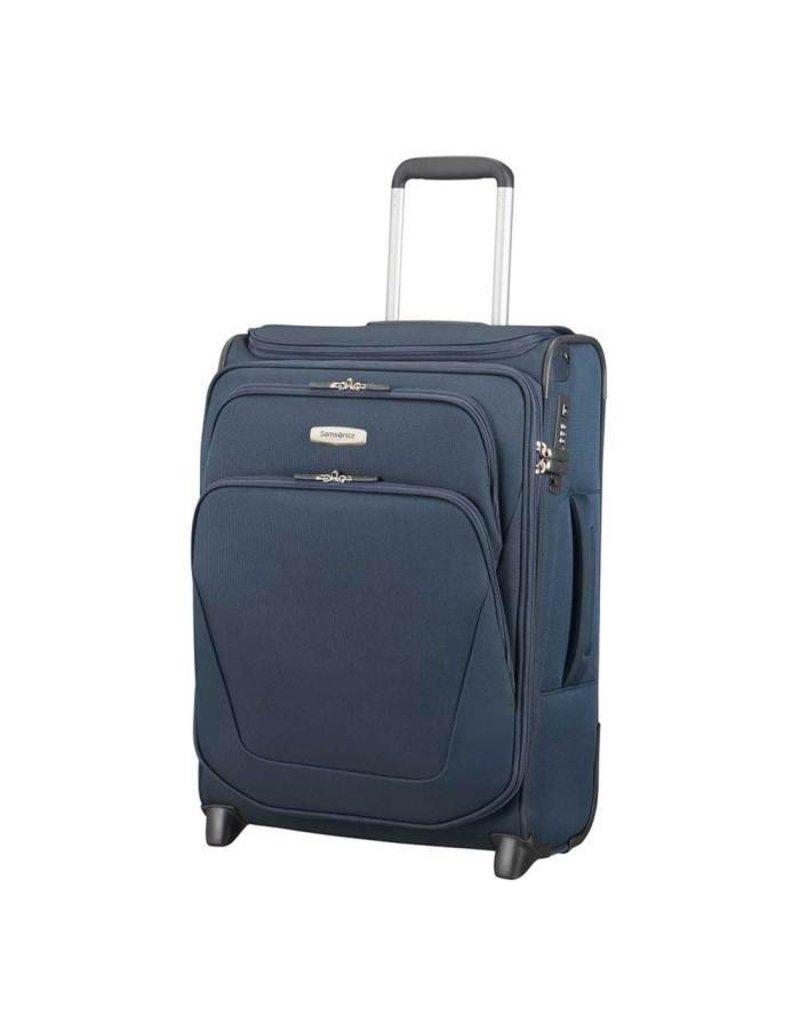 Samsonite Samsonite Spark SNG Upright 55 exp Toppocket blauw handbagagekoffer