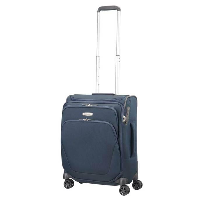 Samsonite Samsonite Spark SNG Spinner 55 Toppocket blauw handbagagekoffer