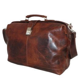 Arpello Arpello - leren dokterstas - Brandy - 16.4 inch laptoptas