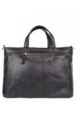 Cowboysbag Cowboysbag - Bag Wick - zwarte leren 15.6 inch laptoptas - Black