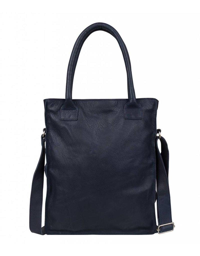 Zacht Leren Schoudertas : Cowboysbag bag dover navy blauw zacht leren per