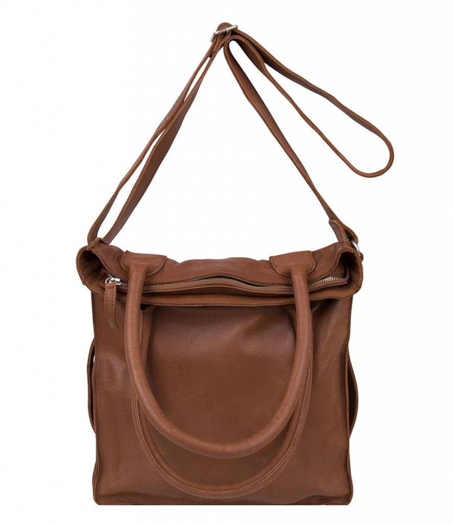 Cowboysbag Cowboysbag - Bag Dover - Cognac - zacht leren shopper tas