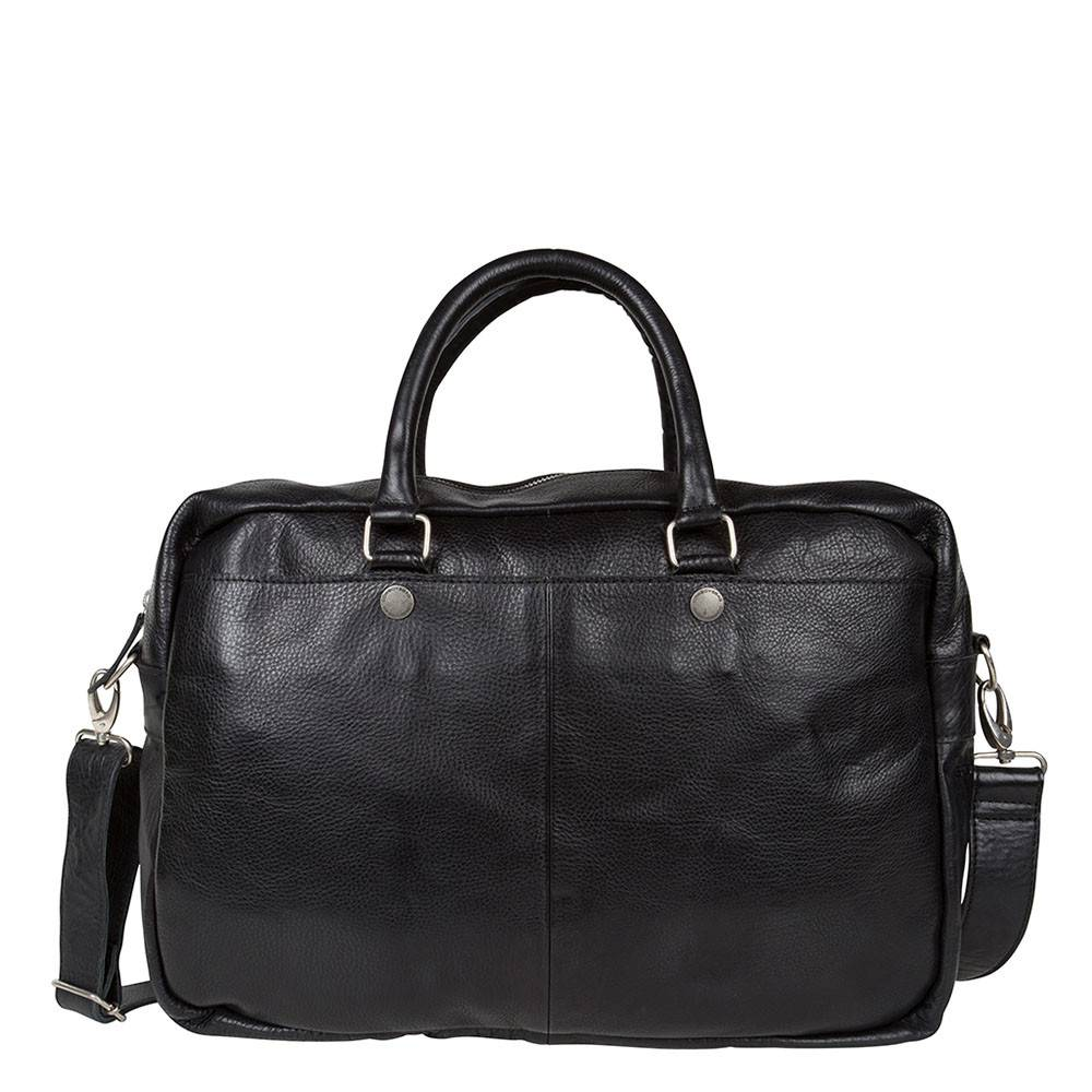 Cowboysbag Cowboysbag - Bag Washington - zwarte leren 15.6 inch laptoptas - Black
