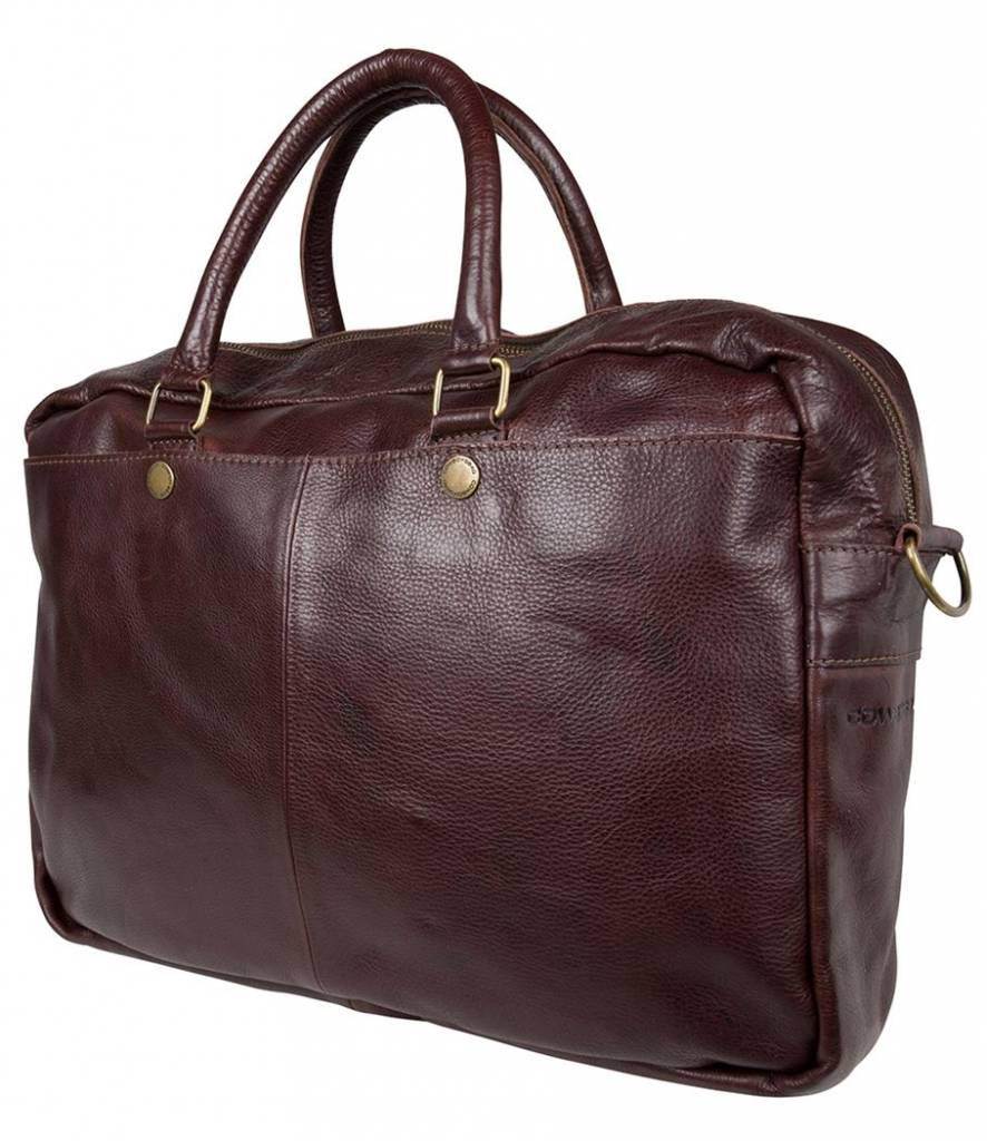 Cowboysbag Cowboysbag - Bag Washington - bruine leren 15.6 inch laptoptas - Brown
