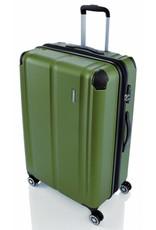 Travelite Travelite City 4 Wiel Trolley M Expandable groen