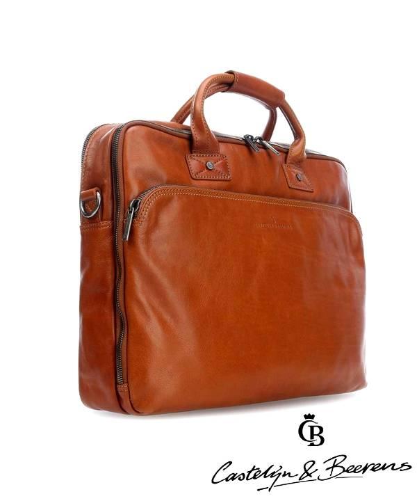 Castelijn & Beerens Affaires Firenze Laptopbag 15,6 Brun Clair