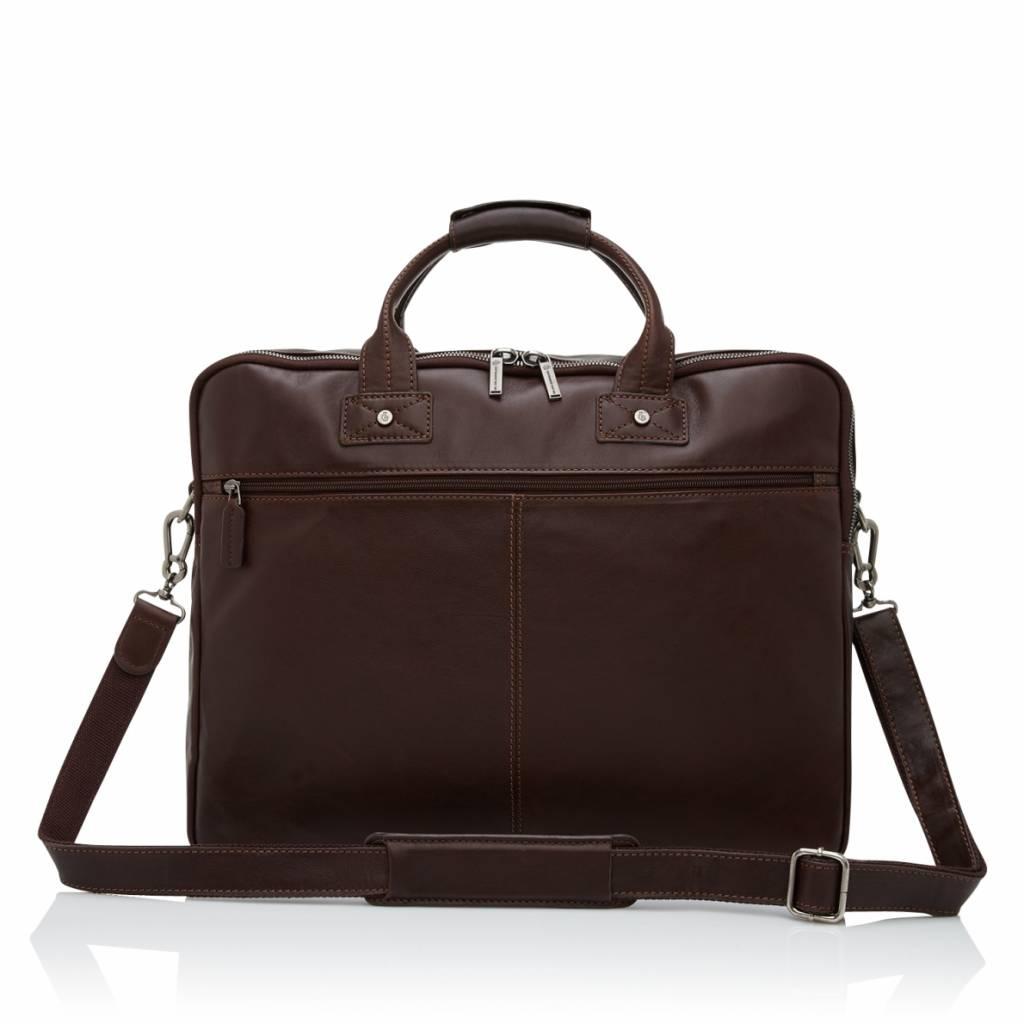 """Castelijn en Beerens Castelijn & Beerens Firenze Business Laptopbag 17"""" mocca"""