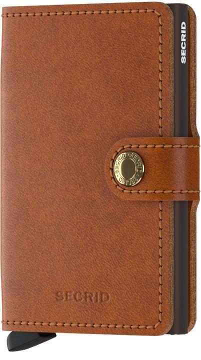 Secrid Secrid Mini Wallet Original Cognac Brown leren  pasjeshouder