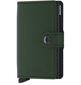 Secrid Secrid Mini Wallet Matte Green Black pasjeshouder
