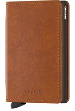 Secrid Secrid Slim Wallet Original Cognac Brown leren uitschuifbare pasjeshouder