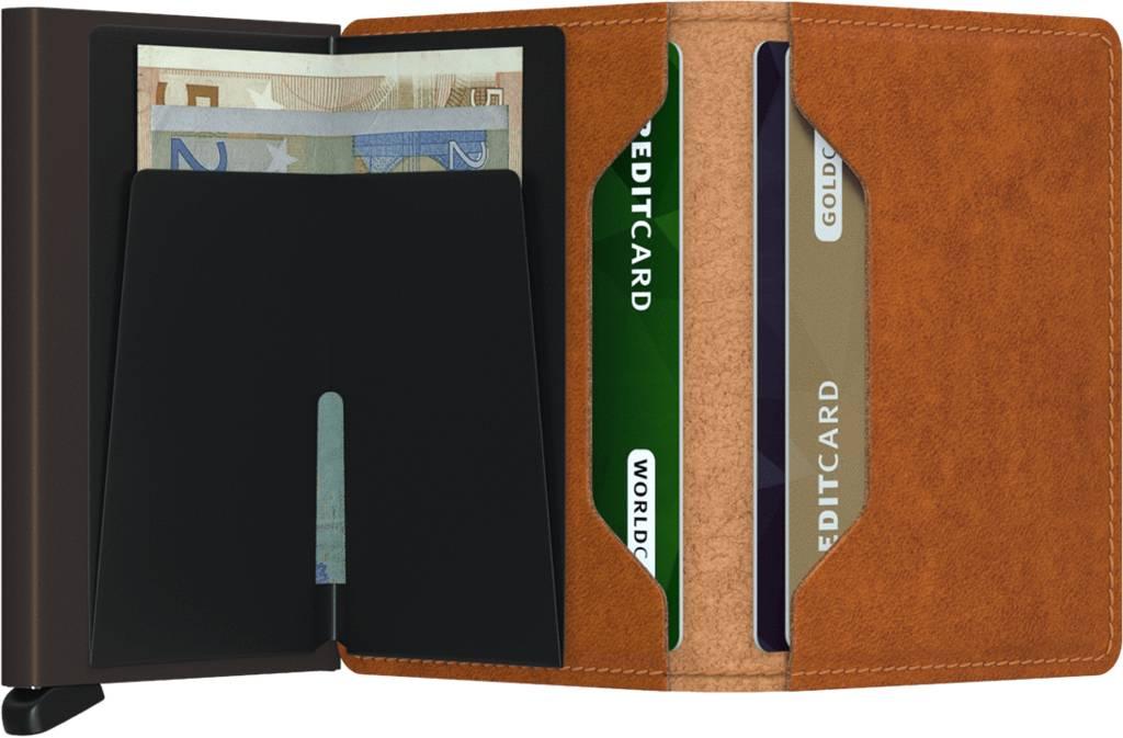 Secrid Mini Porte-monnaie Originale Porte-cartes En Cuir Brun Cognac J4mqGy9O
