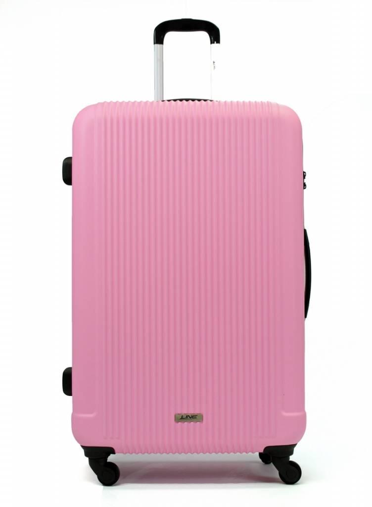 Line Line Grote Reiskoffer - Leyton Spinner - 84 cm - Pink