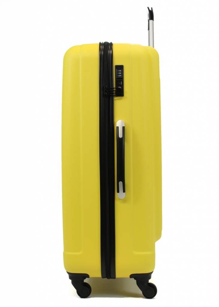 Line Line Grote Reiskoffer - Leyton Spinner - 84 cm - Yellow