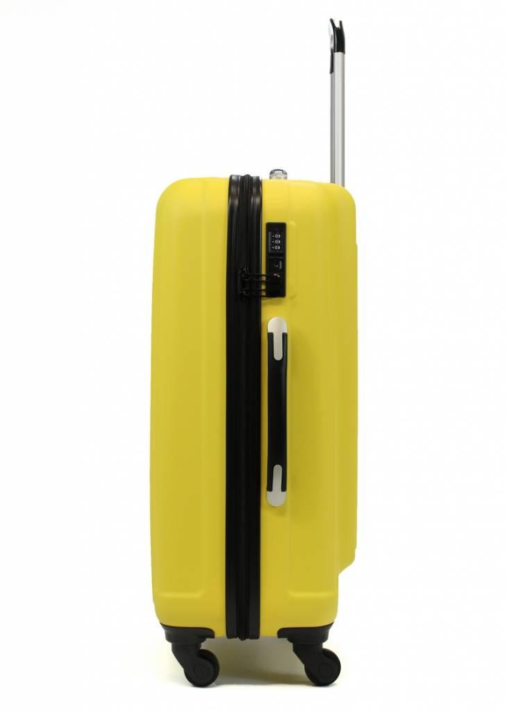 Line Line handbagagekoffer - Leyton Spinner - 55 cm - Navy Blue - Yellow