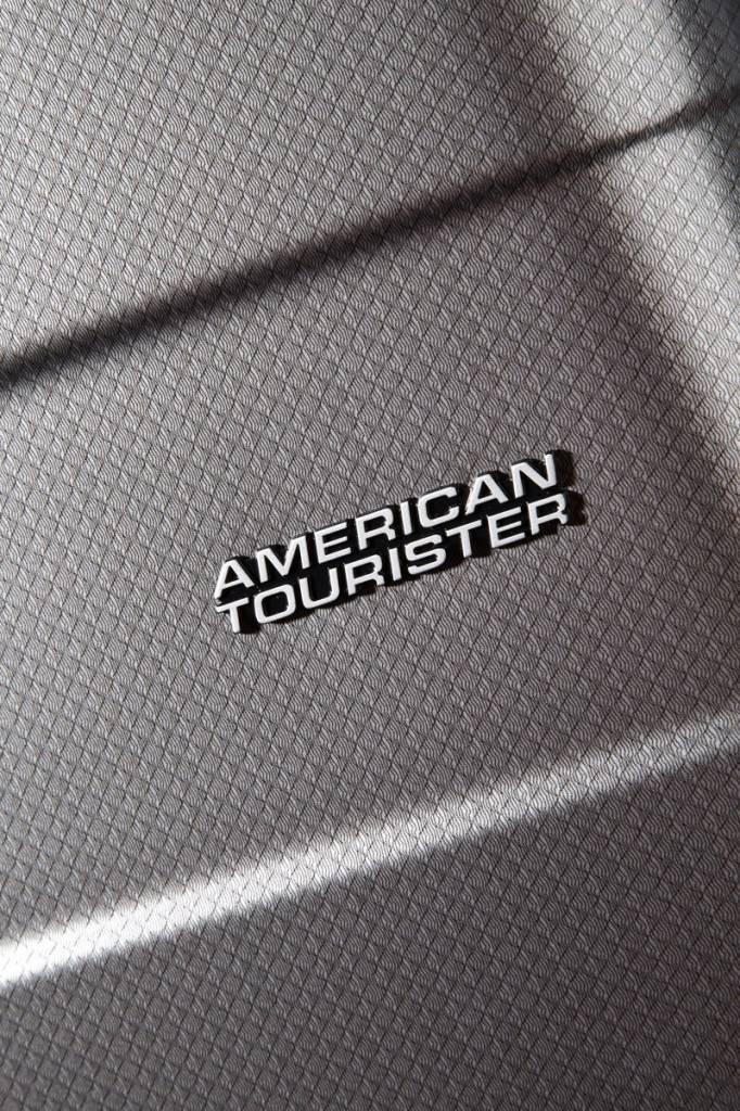 American Tourister American Tourister Pasadena - spinner reiskoffer -  77 cm - Check Black Silver