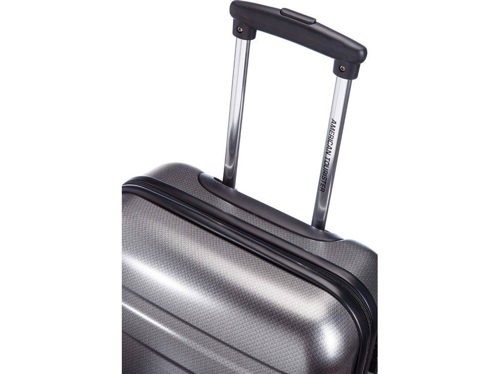 American Tourister American Tourister Pasadena - handbagagekoffer - 55 cm - Check Black Silver