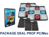 Package Deal Prof for PC-Mac - 2x Deluxe Dance Pad v3 + PC-Mac In The Groove