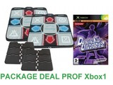 Package Deal Prof for Xbox1 - 2x Deluxe Dance Pad v3 + Dancing Stage Unleashed 2