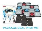 Package Deal Prof for Wii - 2x Deluxe Dance Pad v3 + Dancing Stage Hottest Party
