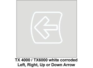 Replacement Arrow Left/Right/Up/Down White Corroded (for TX4000 and TX6000)