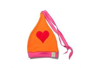 ByKay Baby & peuter mutsje (4M4Y) Fuchsia / Oranje / Hart Rood