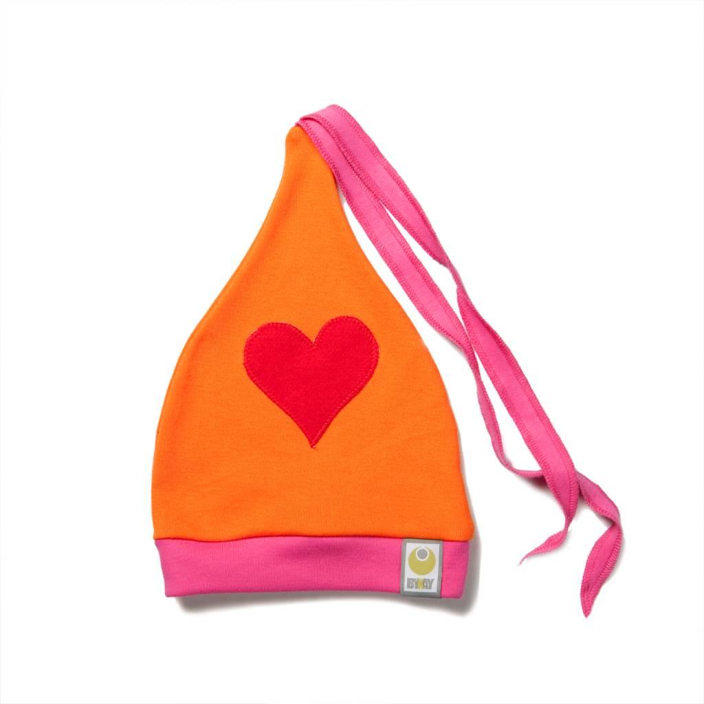 ByKay Baby & peuter mutsje (4M4Y) Fuchsia-Oranje-Hart Rood