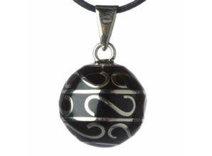 Babylonia Zwangerschapsketting zwart zilveren krullen