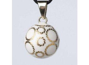 Babylonia Zwangerschapsketting wit zilveren bolletjes