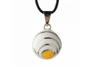Babylonia Zwangerschapsketting wit geel spiraal
