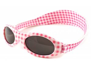 BabyBanz KidzBanz Zonnebril - Pink Checkers
