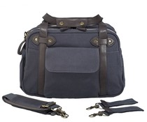 SoYoung Slate Charlie Diaper Bag Brown Handles