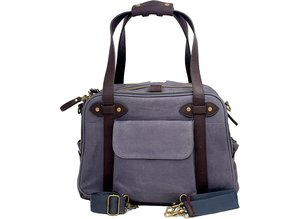 SoYoung Waxed Charcoal Charlie Diaper Bag Brown Handles