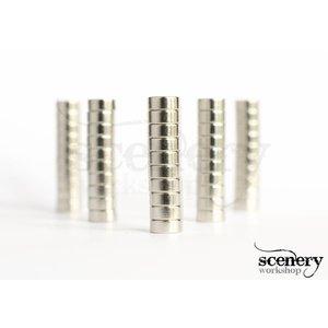 Supermagnete 5mm x 2mm Rare Earth Magneten voor miniaturen - 50x - S-05-02-N-50