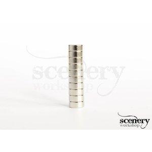 Supermagnete 5mm x 2mm Rare Earth Magneten voor miniaturen - 10x - S-05-02-N-10