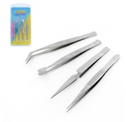 Model Craft Stainless Steel Tweezers - Pincetten - 4x - PTW5000