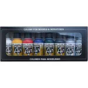 Vallejo Model Air Basic Color Set - 8 kleuren - 17ml - 71174