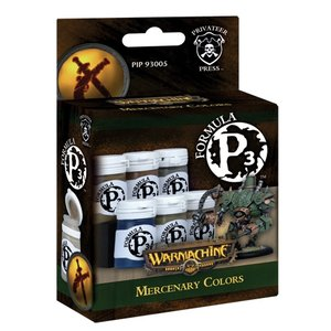 Privateer Press Formula P3 - Mercenary Colors - P3 Paint - 6 kleuren - 18ml - PIP93005