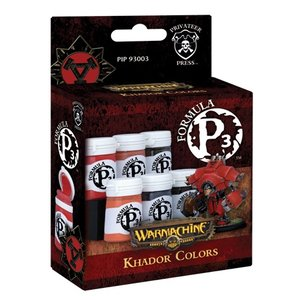 Privateer Press Formula P3 - Khador Colors - P3 Paint - 6 kleuren - 18ml - PIP93003