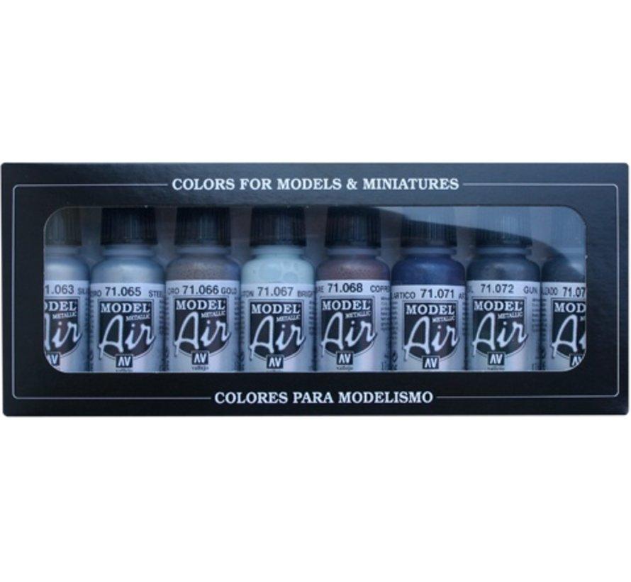 Model Air Basic Metallic Colors Set - 8 kleuren - 17ml - 71176