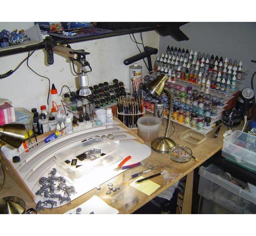 Large Corner Paint Stand - 25mm potjes verfrek - S2Ns