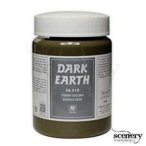 Vallejo Dark Earth Paste - 200ml - 26218